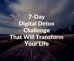 So many of us want to try a digital detox, but don't know where to start. Well, let's start with day one.