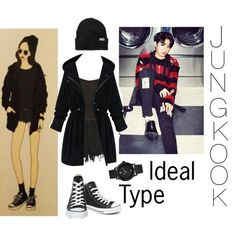 Me gustó el outfit, we . Kpop Fashion Outfits, Korean Outfits, Teen Fashion, Korean Fashion, Bts Mode, Kpop Mode, Harajuku Mode, Harajuku Fashion, Polyvore Outfits