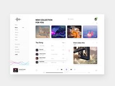 Music Player _ Exploration designed by Zihad-Islam. Connect with them on Dribbble; the global community for designers and creative professionals. Desktop Design, Dashboard Design, App Ui Design, Flat Design, Dashboard Ui, Design Design, Design Thinking, Music Website Templates, Website Layout