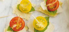 Brochettes de ravioli, tomates cerises et parmesan Recettes | Ricardo