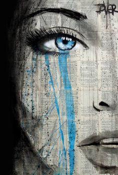 "Saatchi Art Artist LOUI JOVER; Drawing, ""blue metropolis"" #art"