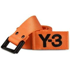 Y-3 Orange Belt ($79) ❤ liked on Polyvore featuring men's fashion, men's accessories, men's belts, orange, mens braided belts, mens embroidered belts and mens woven belts #howtouseabraidedbelt #braidedbeltmen's