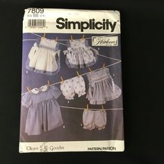 Simplicity 7809 UNCUT Heirloom Smocking Dress Pinafore Pattern Size 2-4 #Simplicity