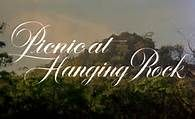Movie title from the film 'Picnic at Hanging Rock' directed by Peter Weir, starring Rachel Roberts, Vivean Gray and Helen Morse Picnic Images, Peter Weir, Picnic At Hanging Rock, Mystery Film, The Criterion Collection, Sofia Coppola, Title Card, Movie Titles, Movie Posters