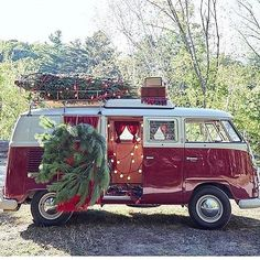 "394 Likes, 11 Comments - Moss Cottage (@mosscottage) on Instagram: ""I  EVERYTHING about this photo!  #ChristmasCountdown #Vw #Christmas #RoadTrip #ChristmasTree…"""