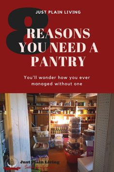 Keeping a pantry - it's like having a convenience store right in your house! #pantry #food #storage #prepping #preparedness #homemaking #homesteading https://justplainmarie.ca/keeping-a-pantry-8-reasons/?utm_campaign=coschedule&utm_source=pinterest&utm_medium=Just%20Plain%20Marie%20-%20Sustainable%2C%20Self%20Reliant%20Living&utm_content=Keeping%20a%20Pantry%3A%208%20Reasons%20That%20Will%20Convince%20You