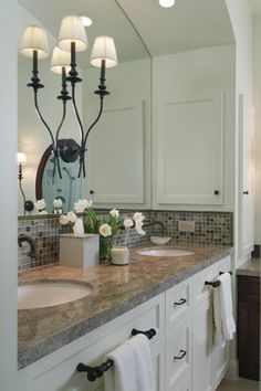Master Bath Remodel in Transitional Style - traditional - bathroom - houston - Carla Aston | Interior Designer