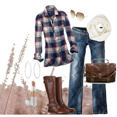 Plaid and Brown Outfit