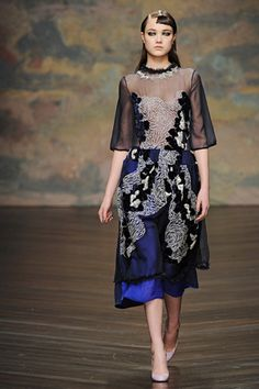 "Modeconnect.com Fashion News – September, 2, 2013 – ""The consumer is often completely unaware of textile design. This may be partly because fabric is so much part of our lives,"" says Clare Johnston @ rcaclarej  Michael van der Ham dress"