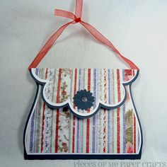 Holiday Gift Card Holder Paper Purse Gift by PiecesOfMePaperCraft, $5.00