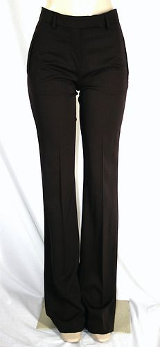 New YVES SAINT LAURENT YSL Trousers Dress Pants Sz F 38 6 Brown SEXY!! 795 Retail