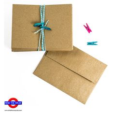 """100 - A2 size - Brown Bag Envelopes - Natural, Recycled, Grocery Bag style for 4.25"""" x 5.5"""" cards"""