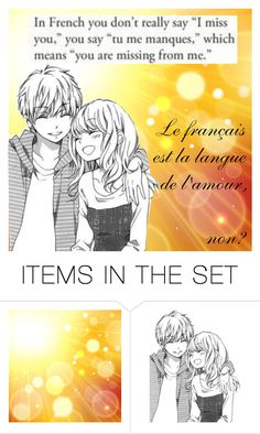 """Tu me manques"" by neko4life ❤ liked on Polyvore featuring art"