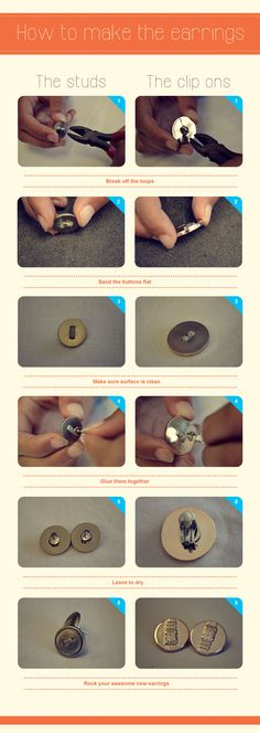 Create your own button earrings in less than 10 minutes with this easy DIY project.