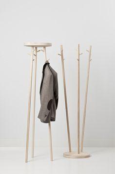 #interior #decor #styling #entryway #coatrack #wood #natural #minimalist #scandinavian