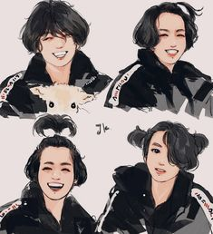 If any of the owners want their art down, just tell me plz ! Jungkook Fanart, Bts Jungkook, Fanart Bts, Vkook Fanart, Foto Bts, Drawing Bts, Moon Drawing, Taekook, Bts Anime