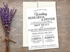 Instant DOWNLOAD Printable Rehearsal & Dinner by ImogenCreations