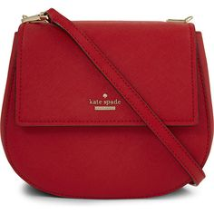 This Kate Spade New York Cameron street Byrdie saddle bag matches my new car! Striped Shoulder Bags, Red Shoulder Bags, Shoulder Strap Bag, Shoulder Handbags, Red Purses, Cute Purses, Purses And Handbags, Gucci Handbags, Kate Spade Handbags