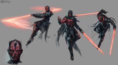 Warm up sketch.Some variations on Darth Maul's outfit and saber Darth Maul sketches Star Wars Rpg, Star Wars Boba Fett, Star Wars Clone Wars, Star Wars Humor, Lego Star Wars, Star Trek, Star Wars Concept Art, Star Wars Fan Art, Star Wars Outfits