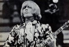 Marvelous photo of Rolling Stone Brian Jones on stage! (Wish it was in color!)