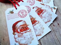 Christmas Tags Santa Claus North Pole Postmark December 25 Holiday Tag by PapergirlStudios on Etsy https://www.etsy.com/listing/254848636/christmas-tags-santa-claus-north-pole