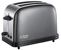 Russell Hobbs Colour Plus 2-Slice Toaster 23332 - Grey Cooking Appliances, Small Kitchen Appliances, Electric Toaster, Russell Hobbs, Cord Storage, Thing 1, Good Find, Bagels, Kitchenware