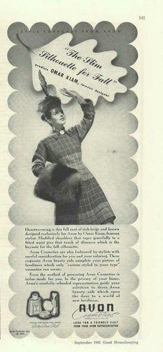 Avon Cosmetics Betsy Ross Red (1941)