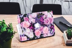 Floral MacBook Decal For Macbook Air Pro Full  by DesignLads