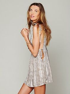 Tallow for Free People Tanzania Tie Dress at Free People Clothing Boutique Love