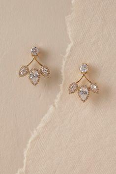 Gold Trifecta Post Earrings | BHLDN