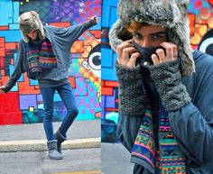 American Apparel American Appareal Bat Longsleeves From Milano, H Gloves From Paris, H Faux Fur Hat, Grey Ugg Boots
