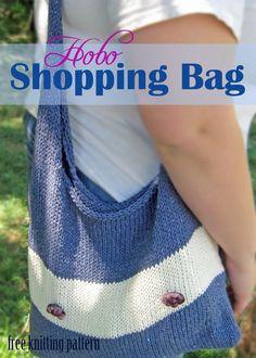Hobo Shopping Bag - Free Knitting Pattern