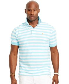 Polo Ralph Lauren Big and Tall Classic-Fit Striped Mesh Polo Shirt - Polos  - Men - Macy\u0027s