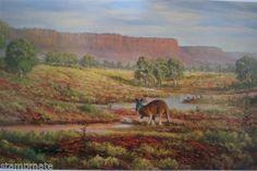 Jack Absolom - SIGNED PRINT THE BIG RED KANGAROO - bidStart (item 56992531 in Antiques & Art... Prints)