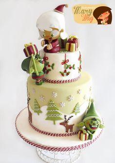 Christmas cake the last Christmas season, i hope you like it!! more here Tarta navideña de las pasadas navidades, espero que os guste!!! mas aquí.