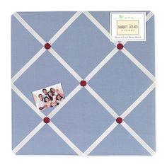 Sweet Jojo Designs Come Sail Away Fabric Memo Board #tinytotties