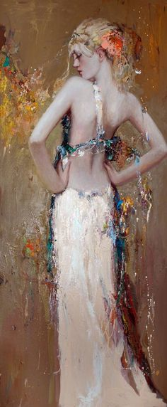 //Before fandango by Mstislov Pavlov. #art #painting #woman