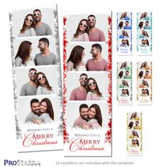 This layout is great for all kinds of Christmas parties. Christmas Photo Booth, Christmas Photos, Christmas Fun, Christmas Parties, Photo Booth Design, Photo Booths, Photobooth Layout, Happy Wishes, Postcard Size