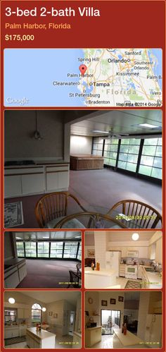 3-bed 2-bath Villa in Palm Harbor, Florida ►$175,000 #PropertyForSaleFlorida http://florida-magic.com/properties/37861-villa-for-sale-in-palm-harbor-florida-with-3-bedroom-2-bathroom