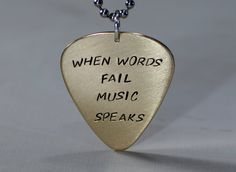 Hey, I found this really awesome Etsy listing at https://www.etsy.com/listing/111459059/when-words-fail-music-speaks-bronze