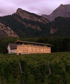 gramazio & kohler / gantenbein vineyard op-art brick façade, fläsch