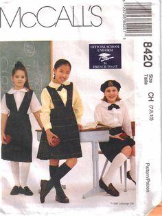 Uniform Pattern   Girls School Uniform Size 7 by PrettyfulPatterns