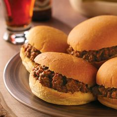 "Sloppy Joes for 8 Dozen Recipe -""My husband and I raised 3 boys, and they had great appetites. I cooked and baked huge amounts of everything! I hope you like these Sloppy Joes as much as we do."" —Wanieta Penner, Assaria, Kansas"