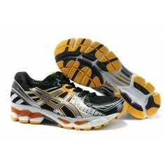 uk availability e4bfb c69d7 gmve Zapatos Asics Kayano 17 Hombres Negro Amarillo Asics Shoes, Black Running  Shoes,