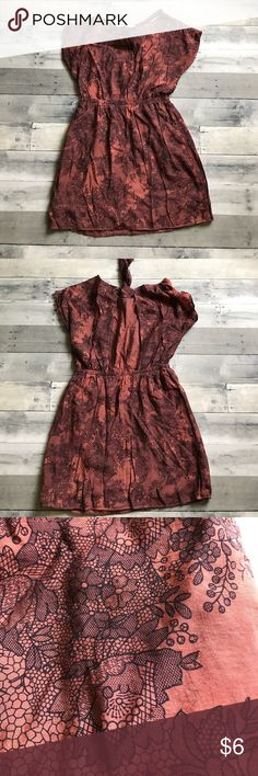 """∆ 5/$15 ∆ open back dress Hand-dyed dress with gorgeous all-over floral print in black. Fully lined skirt. EUC  Add ANY 4 or 9 other items with """"∆ 5/$15 ∆"""" in the title for HUGE savings! 5/$15 OR 10/$25!!! Dresses"""