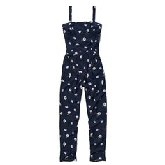 Abercrombie & Fitch Parker Jumpsuit (2.420 RUB) ❤ liked on Polyvore featuring jumpsuits, navy floral, abercrombie & fitch, floral print jumpsuit, navy blue jumpsuit, floral jumpsuit and jumpsuits & rompers