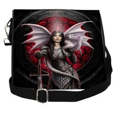 Bags, Purses, Wallets and Umbrellas – Cowes Town Central Mythical Dragons, Anne Stokes, Dragon Warrior, Warrior Queen, China Mugs, Poly Bags, Emboss, Purses And Bags, Shoulder Bag