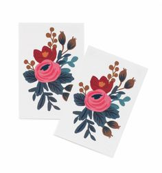 Rosa Collection of 2 Temporary Tattoos