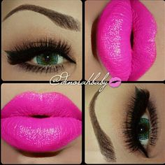 Use Party Pink Lipsense with Matte Gloss for this lip look! https://www.senegence.com/SylviaCuff Distributor ID 182488 #LipSencebySylvia #LipSence