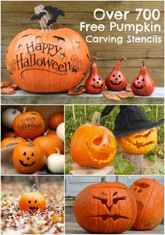 Go carving crazy with hundreds of free pumpkin carving stencil options via www.spaceshipsandlaserbeams.com